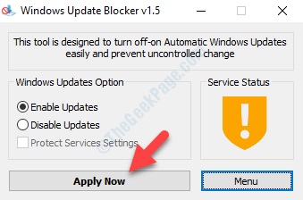 Windows Update Blocker Apply Now