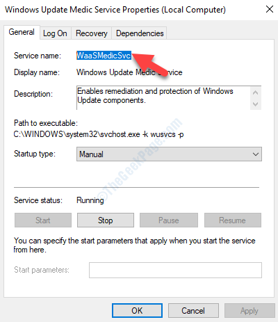 Windows Update Medic Service Properties Waasmedicsvc Copy