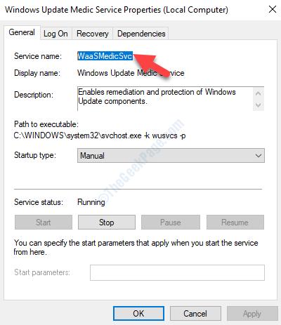 Windows Update Medic Service Properties Waasmedicsvc Copy