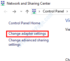 Change Adapter Settings