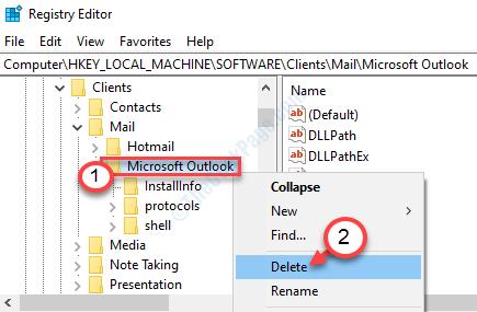 Delete Outlook