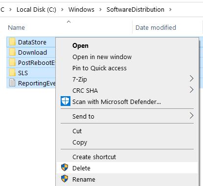 Delete Software Distribution Min