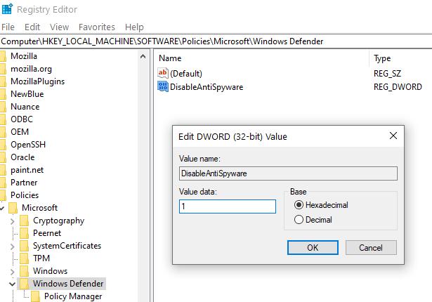 Disable Anti Spyware Min