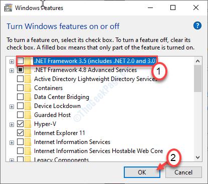 Disable Net Framework