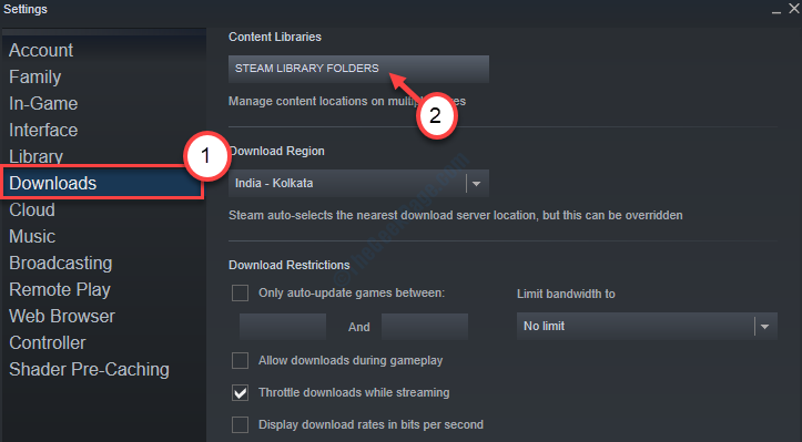 Downloads Steam Library Folder