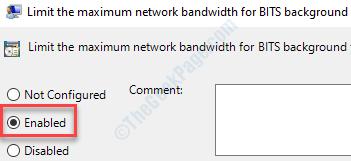 Enabled Limit Bandwidth