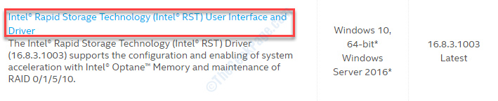 Intel Rst Click K
