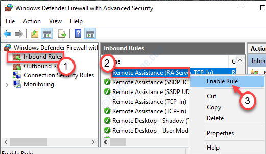 Remote Assitance Enable Rule