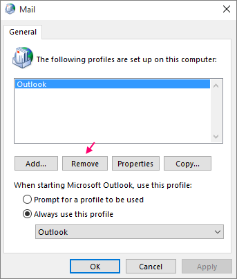 Remove Outlook