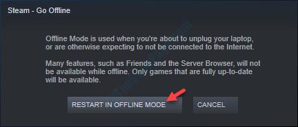 Restart In Offline Mode