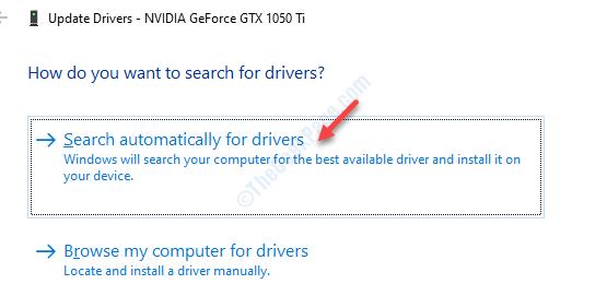 Seach Automatic Graphics Driver