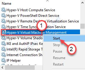 Start Hyper V