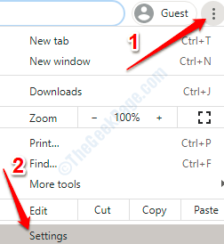 1 Chrome Settings