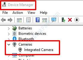 1 Device Manager Webcam
