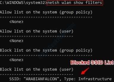 1 List Of Blocked Ssid