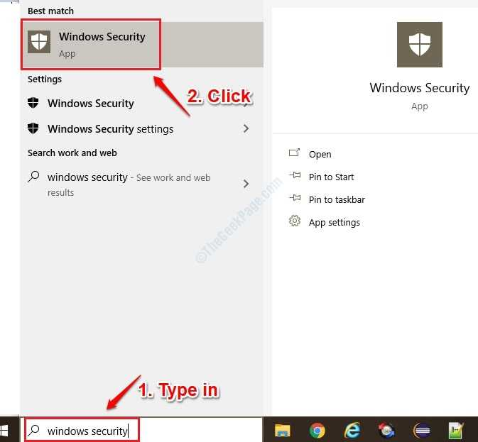 1 Start Windows Security