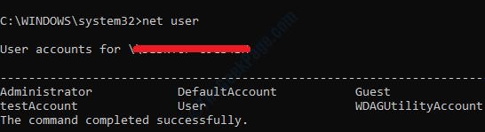 11 Net User After Delete