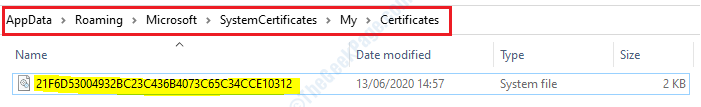 14 Appdata Certificates