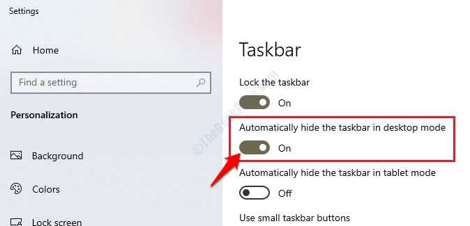 2 Hide Taskbar