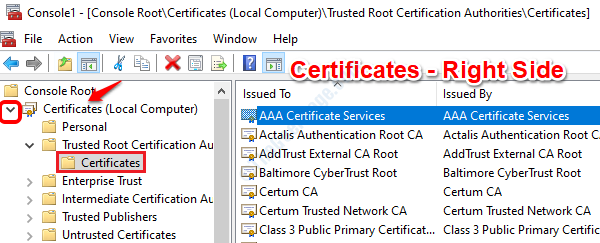 21 View Certificates