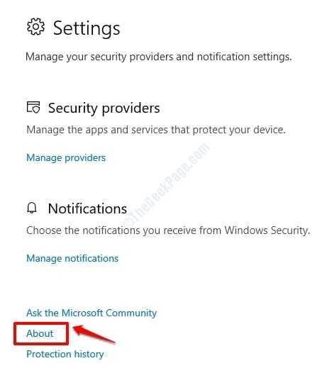 3 Security Settings About
