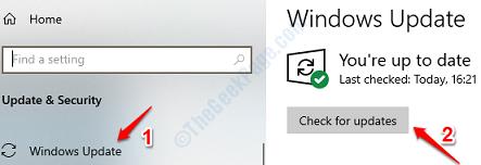4 Check Windows Updates