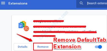 6 Remove Extension