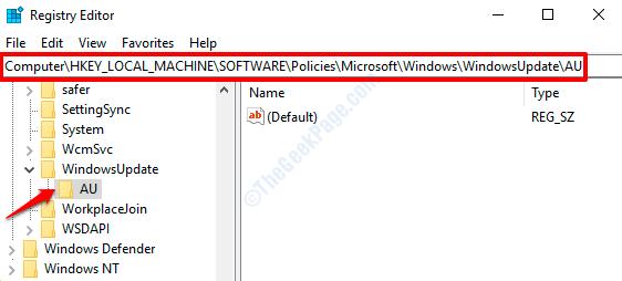 8 Regedit Windowsupdate