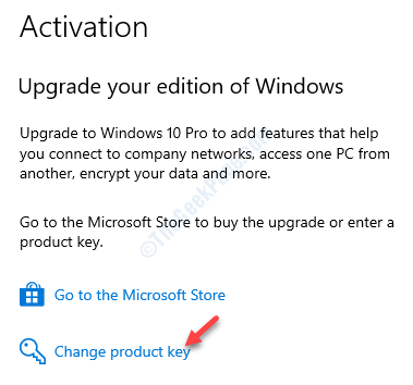 Activation Settings Right Side Change Product Key