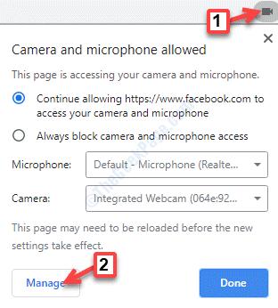 Chrome Website Camera Icon Manage
