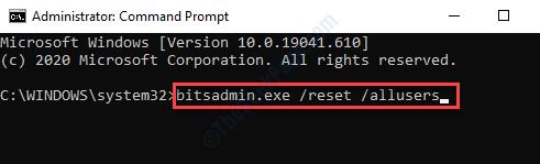 Command Prompt (admin) Run Command To Clear Bits Queue Enter