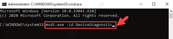 Command Prompt (admin) Run Command To Open Hardware And Device Troubleshooter Enter