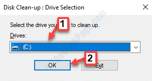 Disc Clean Up Box Select Drive Ok