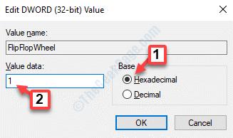 Edit Dword (32 Bit) Value Base Hexadecimal Value Data 1 Ok