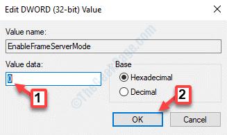 Edit Dword (32 Bit) Value Value Data 0 Ok