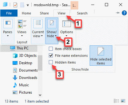 File Explorer View Show Or Hide Hidden Items Uncheck