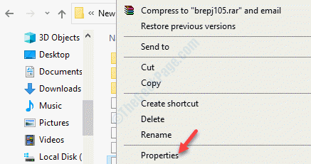 File Explorer Navigate To File Or Folder Location Select File Or Folder Right Click Properties