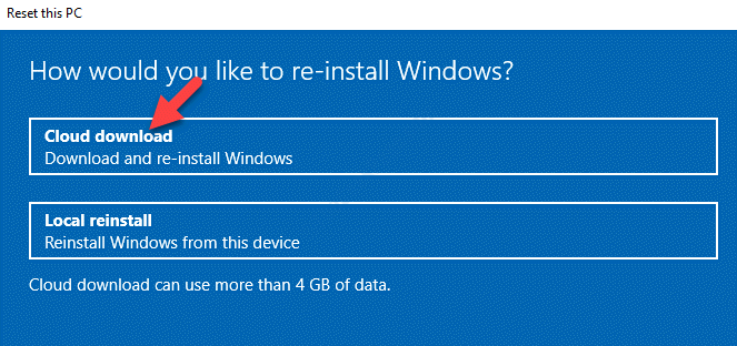 How Would You Like To Reinstall Windows Cloud Download