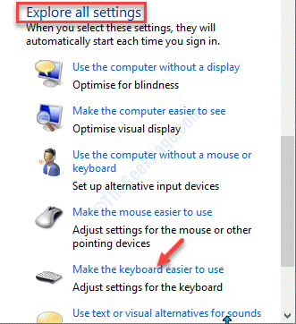 Make The Computer Easier To Use Explore Settings Make The Keyboard Easier To Use