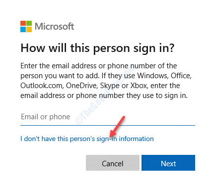 Microsoft Account I Dont Have This Persons Sign In Information