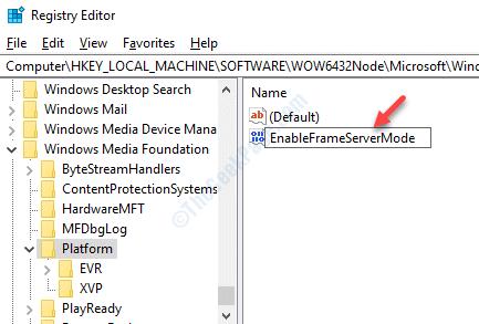 New Dword Rename Enableframeservermode Double Click