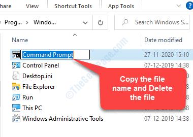 Original File Copy File Name Delete File