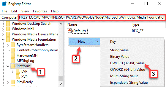 Registry Editor Navigate To Path Platform Key Right Side Right Click New Dword (32 Bit) Value