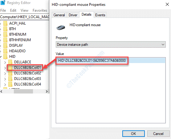 Registry Editor Navigate To Path Hid Match Key With Device Manager Path Min