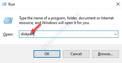 Run Command Diskpart Enter