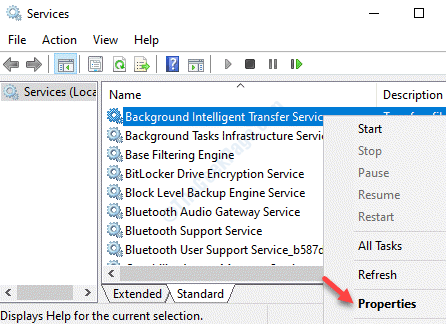 Services Names Background Intelligence Transfer Service Right Click Properties