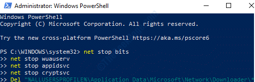 Windows Powershell (admin) Run Command To Reset Windows Store Enter