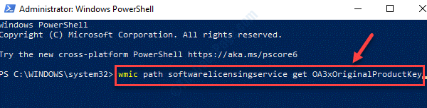 Windows Powershell (admin) Run Command To Check Original Product Key Enter