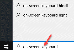 Windows Search Bar On Screen Keyboiard Search