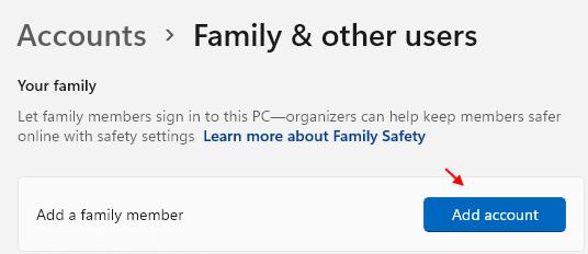 Add Account Family Windows 11 Min